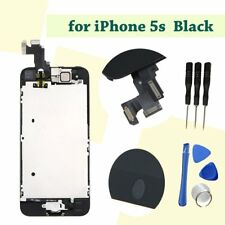 Front Complete LCD Display Touch Digitizer Screen Assembly for iphone 5s Black
