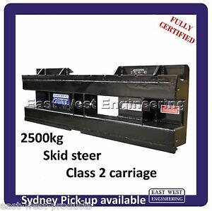 SKID STEER QUICK HITCH 2500kg Class 2 CARRIAGE ONLY for skid steer