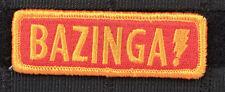 BAZINGA SHELDON COOPER CLOTH MORALE EMBROIDERED PATCH TACTICAL BIG BANG THEORY