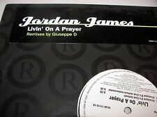 "Jordan James Livin' On A Prayer 12"" Single NM Robbins REAB-72119-1 2004 PROMO"