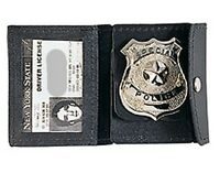 Police Leather ID and Badge holder. Great for Security and Law Enforcement