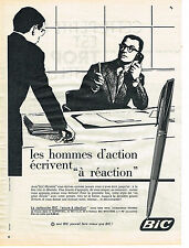 PUBLICITE ADVERTISING 014   1960   BIC  stylo à réaction