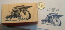 P13  Gryphon Alice in Wonderland Rubber stamp WM