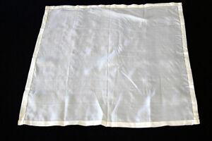 VINTAGE 1920'S CREAM SILK SATIN SCARF 18 INCHES BY 18 INCHES
