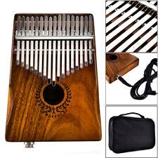 17 Keys EQ kalimba Solid Acacia Thumb Piano Link Speaker Electric Pickup+Bag Pop