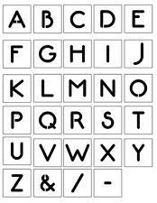 Alphabet Stencil 'NEON' font Single Letters  A - Z, 40mm up to 200mm - Free Post