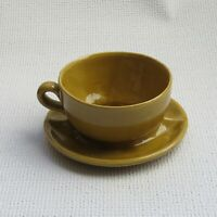 Vintage Brush #37 USA McCoy Glazed Attached Cup & Saucer Planter