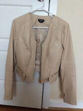 Bebe Beige Faux Leather Jacket Size Small
