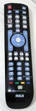 RCA RCRN04GR 4 Device Universal Remote with Green Backlit Keypad (Gloss Black)