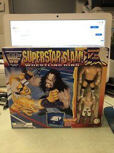 WWF Justoys Bend-Ems Super Slam Wrestling Ring Shawn Michaels Vs Steve Austin