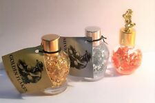 Set of 3 Bottles of Golden, Silver and Copper Flakes Great for display or Gift