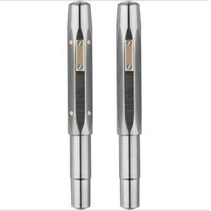 New MAJOHN RS1 Octagonal  Metal Short Titanium Fountain Pen Gold Plated/14K Nib