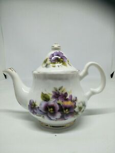 Vintage Blue Waters Of England Small Teapot Staffordshire Fine Bone China