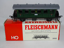 FLEISCHMANN ( 5002 ) VOITURE A ESSIEUX 3E CLASSE DRG AVEC HABILLAGE EN BOITE HO