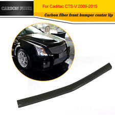 Front Center Bumper Lip Aprons for Cadillac CTS V Sedan Coupe 09-15 Carbon Fiber