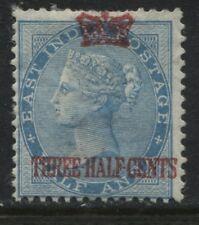 Straits Settlements QV 1867 overprinted 1 1/2 cents unused no gum (JD)