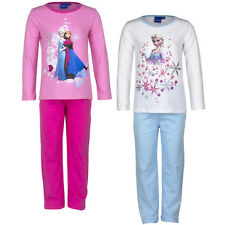 Official Disney Frozen Kids Girls Cotton Pajama Set Nightwear 3-4 4-5 5-6 7-8Y