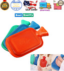 Hot Water Bottle Rubber Bag Warm Relaxing Heat Cold Therapy Winter Reusable NEW