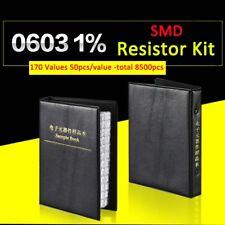 8500pcs 0603 SMD/SMT 1% Resistor Samples Book Assorted Kit Component 170 Values