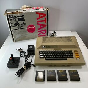 Atari 800 Computer System Console 3 Games Power Supply Controller Box Read Disc.