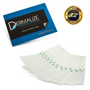 Dermalize Pro Tattoo Aftercare Sheets - Coverup Film Heal - 5 Pack - 15cm x 10cm