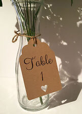 Rustic Shabby Chic Wedding Table Number Tag with Rustic Twine