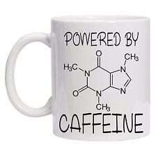Powered By Caffeine Formula Geek Nerd Funny Tea Coffee 10oz Ceramic Mug Cup