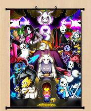 Hanging Wall Scroll Anime Poster - 021 Undertale Sans/Papyrus Skeleton Brother