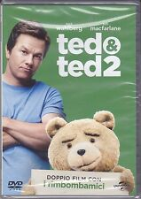 2 Dvd Box Cofanetto «TED 1 & TED 2» di Seth Macfarlane con Mark Wahlberg nuovo