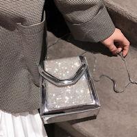 Small Mini Faux Leather Rhinestone Single Shoulder Bag Crossbody Chain Purse