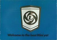 British Leyland Mini Range Brochure 1977 Inc 850 1000 Clubman 1275GT #3285