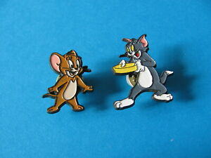 Vintage TOM & JERRY Pin Badges. Turner Entertainment Co © 1998. Last Ones !