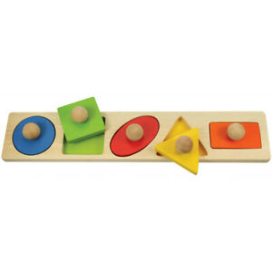 Bigjigs Toys Wooden Educational Shape Matching Board Learning Creative