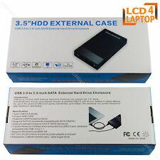 "3.5"" SATA USB 3.0 External Hard Drive Enclosure Caddy Case Computer HDD/SSD"