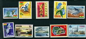 Ghana 1969 New Constitution issue complete to 10Np SG 541-550 UM/MNH