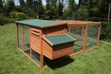 Large Rabbit Chicken Guinea Pig Ferret Hutch House Coop with Extension