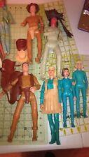 Vintage toy  Marx JOSIE  & JANE WEST Dolls  cowboy native American Accessories