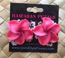 "Hawaiian Plumeria Flower Fimo Fashion Jewelry Post Earring PINK 1.25"" inch NWT"