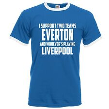Retro Football Shirt Everton Vs Liverpool Funny Fathers Day Customisable