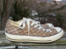 CONVERSE Plaid Golden ALL STAR Sneakers Athletic Shoes Mens Size 6 Womens 8 @