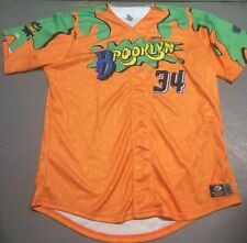 Brooklyn Cyclones Nickelodeon Game Used #34 Jersey 50 Double Dare Nick TV MILB