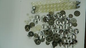ABSOLUTELY HUGE MCM Lot Mirror Repair Piece, Cabochons, Discs, Lucite, Must See!