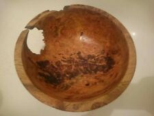 Large weighty Burr oak Centre peice / Fruit decorative Bowl Hand Crafted unique
