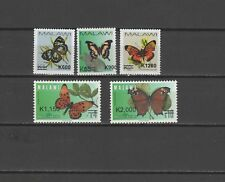 Malawi 2018 Butterflies set of 5 with overprint of new value MNH