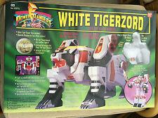 Power Rangers Deluxe Megazord Tigerzord Blanco no legado sin usar y en caja sellada Nuevo Raro