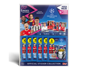 Topps Champions League 2020/21 Sticker Collection - Multipack (5 Packs + Bonus)