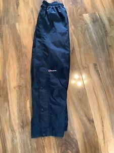 Berghaus Mens Large Aqufoil Waterproof Black Over Trousers