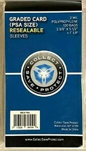 Graded Card Sleeves Poly Bags Fit PSA 100 SNUG FIT SKIN TIGHT BAG FOR PSA SLABS