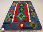 Traditional Turkish Kilim Rug shabby vintage wool Boho Kelim 145x88 cm Small