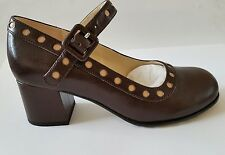 SIZE 4 US 6 ORLA KIELY BROWN LEATHER DOROTHY WOMENS SHOES NEW NICE BIRTHDAY GIFT